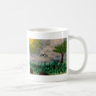 Caneca De Café Pássaro no prado