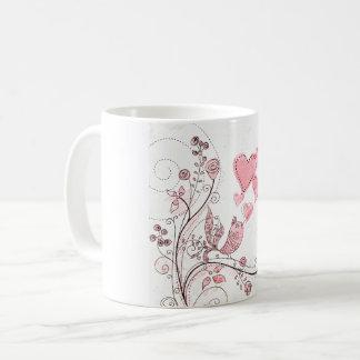 Caneca De Café Pássaro recortar de amor