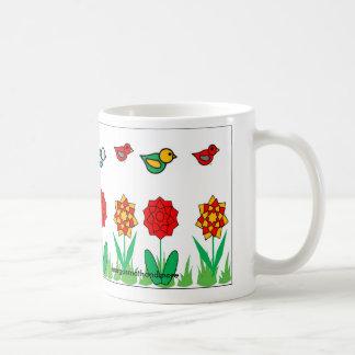 Caneca De Café Pássaros do sorvo & do plano do copo de café
