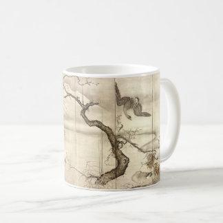 Caneca De Café Pássaros e flores por Sesshū Tōyō