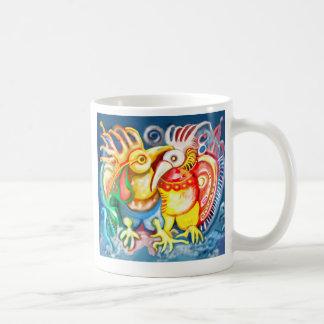 Caneca De Café Pássaros Precolumbian