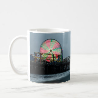 Caneca De Café Passeio à beira mar do Nighttime da roda de Ferris