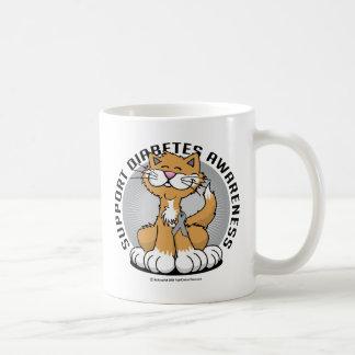 Caneca De Café Patas para o gato do diabetes