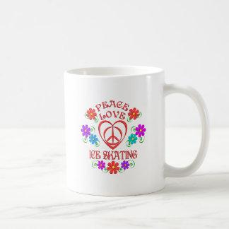 Caneca De Café Patinagem no gelo do amor da paz