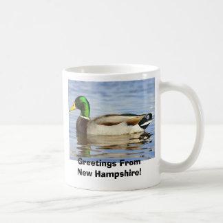 Caneca De Café Pato selvagem, cumprimentos de New Hampshire!
