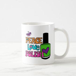Caneca De Café Paz, amor, & polonês