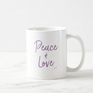 Caneca De Café Paz-e-Amor-Roxo