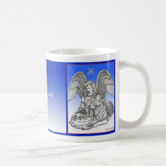 Caneca De Café Paz na terra, no leão, no cordeiro & no anjo