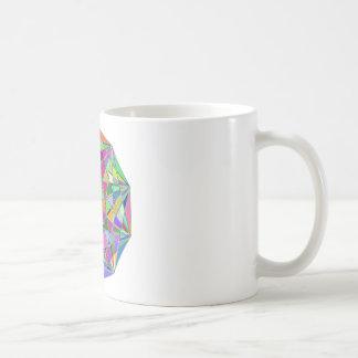 Caneca De Café Pedra de gema tirada Kaleidescope colorida
