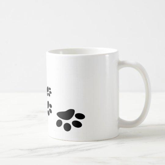 Caneca De Café Pegadas de cachorro