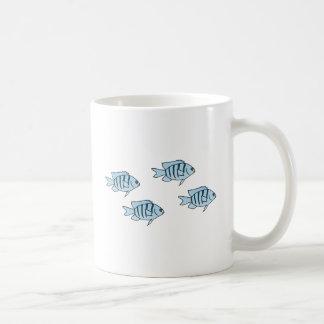 Caneca De Café Peixes azuis do recife de corais