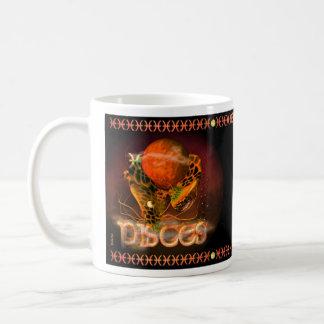Caneca De Café Peixes chineses góticos do sinal da astrologia do