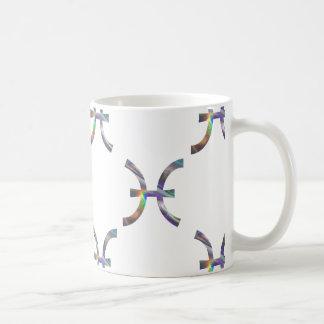 Caneca De Café peixes do holograma