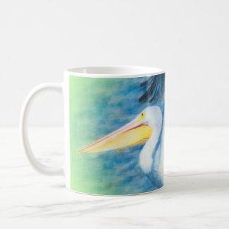Caneca De Café pelicano 17 da aguarela