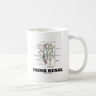 Caneca De Café Pense renal (rim Nephron)