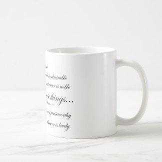 Caneca De Café Pense sobre tais coisas… 4:8 dos Philippians