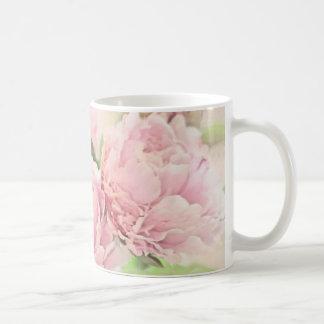 Caneca De Café Peônias cor-de-rosa