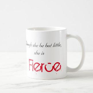 Caneca De Café Pequeno mas feroz - Shakespeare