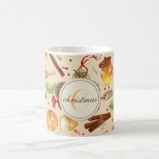 Caneca De Café Perfumes do vintage do Natal