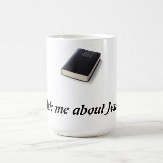 Caneca De Café Pergunte-me sobre Jesus com bíblia