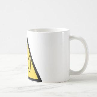 Caneca De Café perigo de radiação deionização