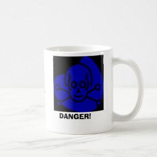 Caneca De Café Perigo, PERIGO! , Contem Dihydrous MonoxideHar…
