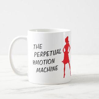 Caneca de café perpétua engraçada da máquina da