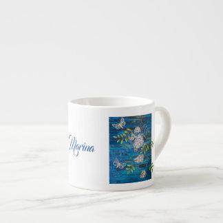 Caneca de café personalizada com traças & flores