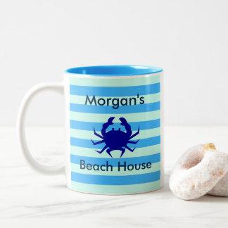 Caneca de café personalizada do caranguejo azul de