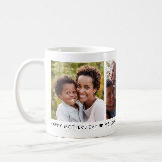 Caneca de café personalizada foto do dia das mães