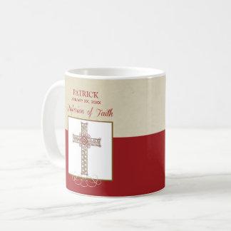 Caneca De Café Personalize, bênçãos de RCIA na profissão da fé