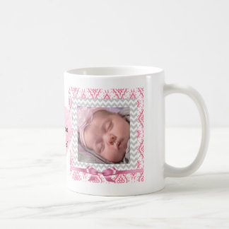 Caneca De Café Personalize este rosa bonito coração quadro das
