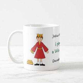 Caneca De Café Personalize-me -- Homem do rei /Wise da natividade