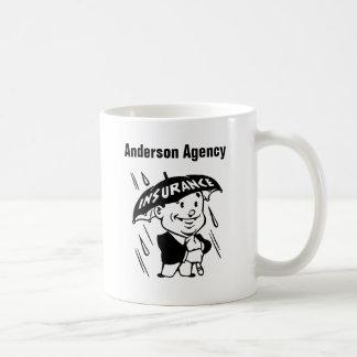Caneca De Café Personalize o agente de seguros ou a agência