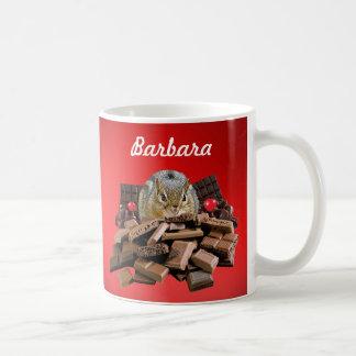 Caneca De Café Personalize o Chipmunk dos namorados ou do