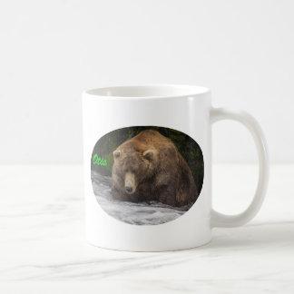 Caneca De Café Pesca de Otis do urso de Brown