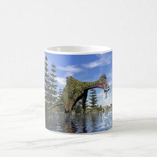 Caneca De Café Pesca do dinossauro do Deinocheirus - 3D rendem