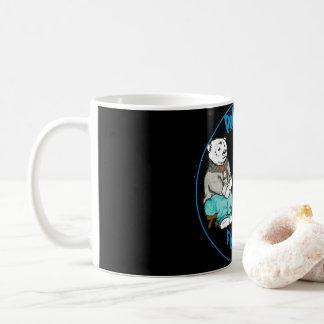Caneca De Café Pesca do urso polar em uma noite escura!