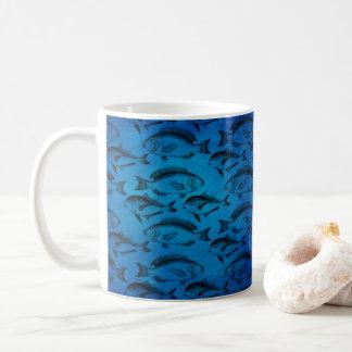 Caneca De Café Pescador azul de Putdoorsman dos peixes