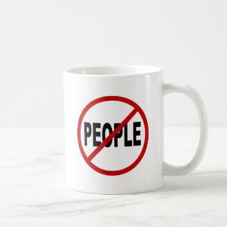 Caneca De Café Pessoas de pessoas de /No do ódio permitidas a