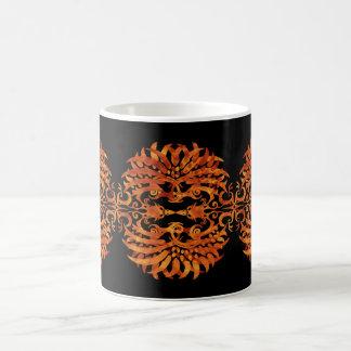 Caneca De Café Phoenix tribal flamejante