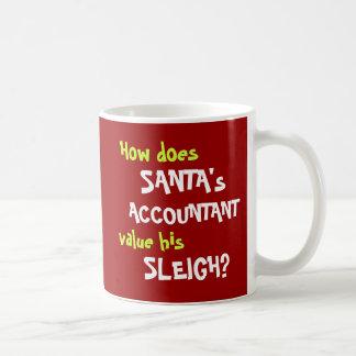 Caneca De Café Piada engraçada da contabilidade do Natal do papai
