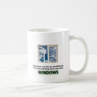 Caneca De Café Piada engraçada de Windows - GeekShirts