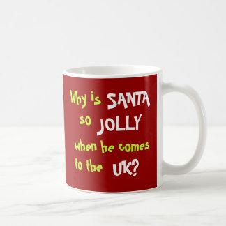 Caneca De Café Piada engraçada Reino Unido do Natal do contador