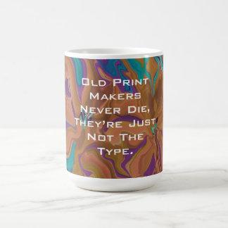 Caneca De Café piada velha dos fabricantes do impressão