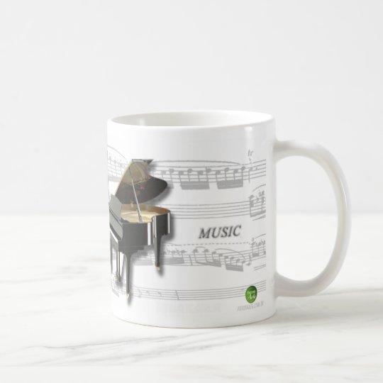 Caneca De Café Piano e partitura