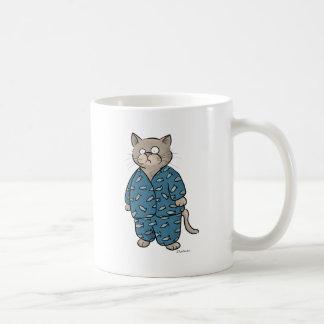 Caneca De Café Pijamas azuis dos peixes