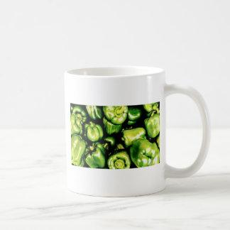 Caneca De Café Pimentas de Bell verdes