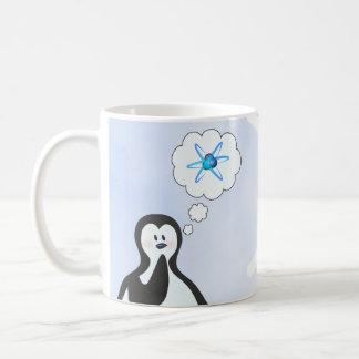Caneca De Café Pinguim da física nuclear + Floco de neve