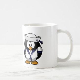Caneca De Café Pinguim do marinheiro